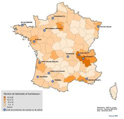 Carte France Industrie