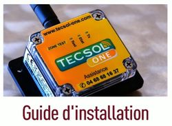 Tecsol One Guide d'installation