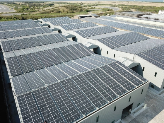 Commercial SolarEdge PV system on Factory